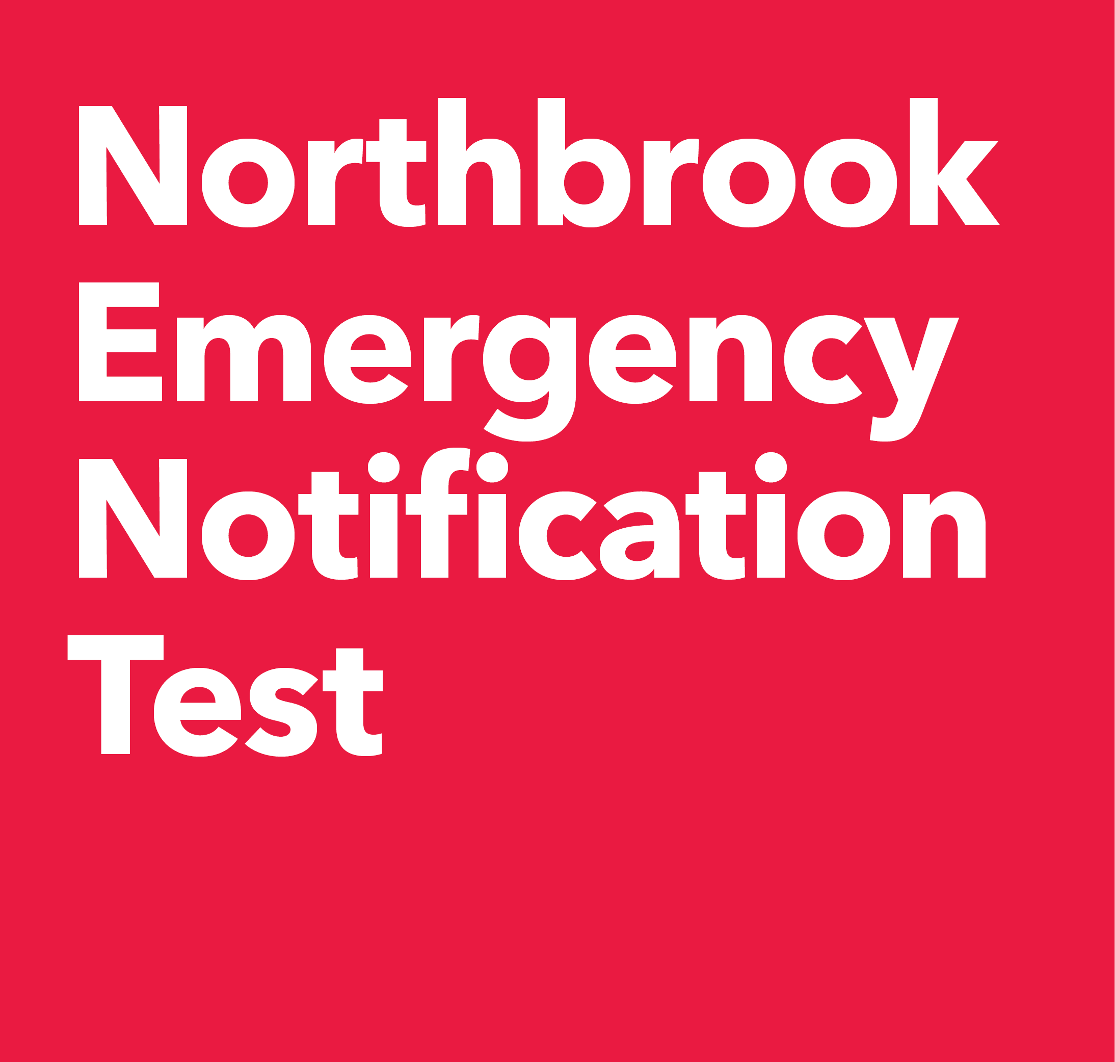 Emergency Notification Test